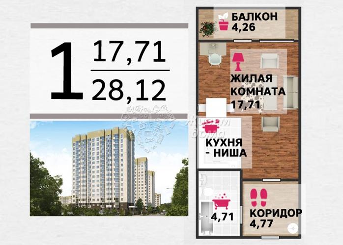 Продаётся 1-комн.               квартира,  Волгоград,               Советский, им Тимирязева ул, 11
