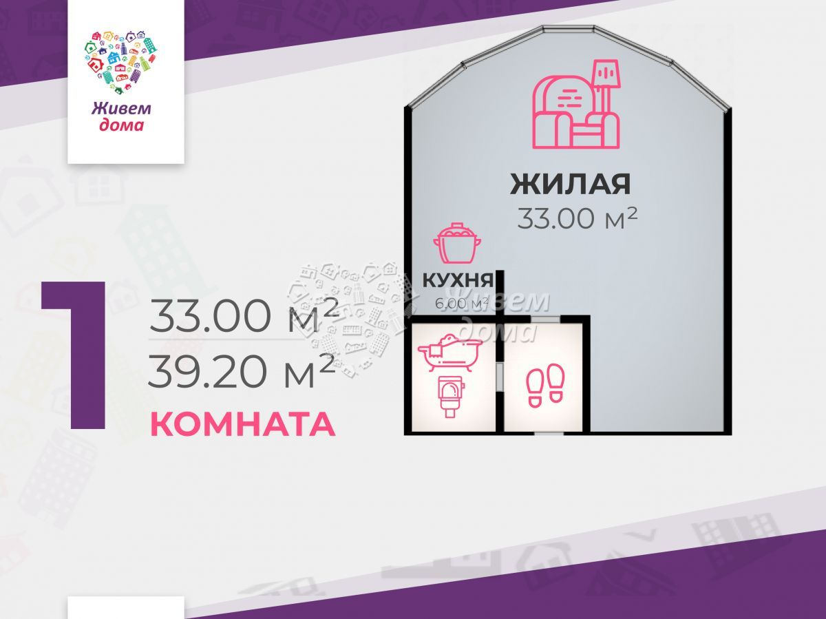 1-комн. , Волгоградская область, Волгоград, Центральный, им Ленина пр-кт, 72Б